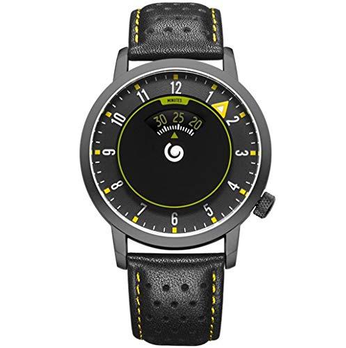 Herrenuhren Herren Chronograph Sky Eye Neue Coole Kreative Aircraft Speed   Propeller Rotation Einzigartiges Konzept Design Leder Uhr for Männer Casual Chronograph Large Dial (Digital-propeller-uhr)