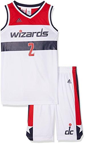 adidas Kinder Washington Wizards Shorts/Jrsy, White/Red, 128 Preisvergleich