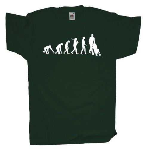 Ma2ca - Evolution - Eltern Kinderwagen T-Shirt Bottle Green