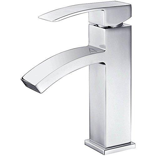 Homelody Wasserhahn Bad Armatur Wasserfall Badarmatur Waschtischarmatur Waschbeckenarmatur Einhebelmischer Mischbatterie Waschtischbatterie Chrom für badzimmer