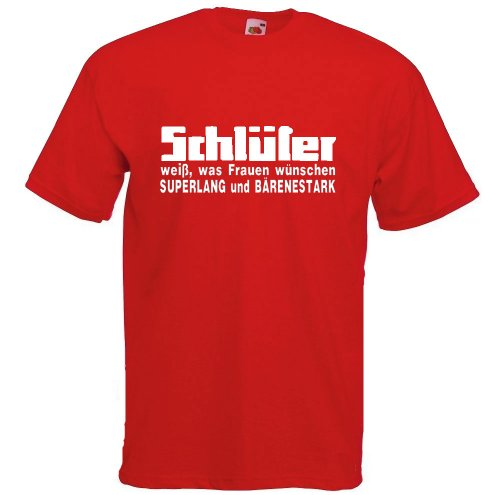 Schlüter weiß, was Frauen wünschen | T-Shirt Rot