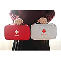 Sacchetto di pronto soccorso YIDOU Cerniera portatile impermeabile Resistente all'acqua Borsa di stoccaggio medica Borsa cosmetica Forniture di emergenza per viaggi a casa