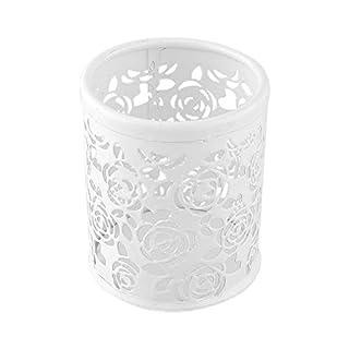 Hrph Rokoo Metallhöhle Rose Blumen-Design-Zylinder-Feder-Bleistift-Topf-Halter-Behälter Weinlese -Frauen-Verfassungs-Bürstenhalter