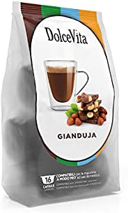 Gianduja (Hazelnut & Chocolate) Latte by Dolce Vita - Dolce Gusto Compatible Capsules | Fresh | Delicious