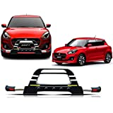 Auto Pearl - Premium Quality Car PU & Stainless Steel Front Crash Flame Guard ABS with LED with Fitting Kit for - Maruti Suzuki Swift 2018 - FG053