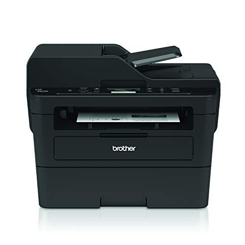Brother DCP-L2550DN Kompaktes 3-in-1 S/W-Multifunktionsgerät (34 Seiten/Min., Drucken, Scannen, Kopieren, A4, echte 1.200x1.200 dpi, Duplexdruck, 250 Blatt Papierkassette, USB 2.0, LAN)