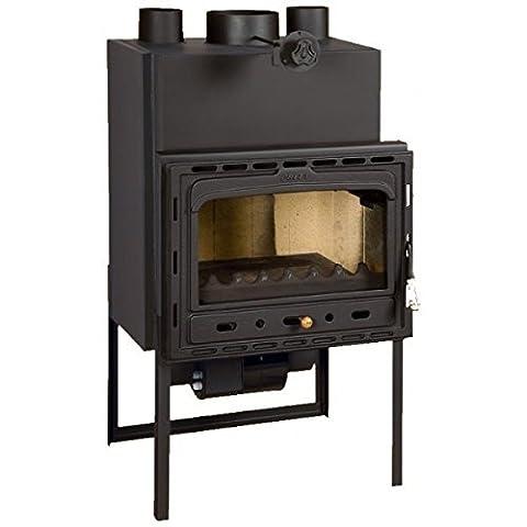 Wood burning fireplace insert Prity, Model CF, Heat output 18kW, Blower, Cast iron door