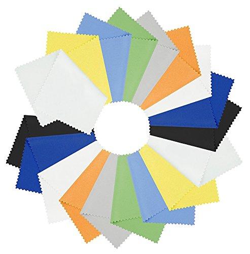 Preisvergleich Produktbild Lucklystar®18X Reinigungstücher Mikrofasertücher Ideal für alle Displays Geeignet und Anderen Empfindlichen Oberflächen14*14CM(Zufällige Farbe)