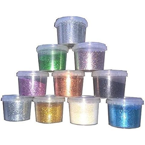 LO STUDIO DEL COLORE Glitter In Polvere Per Vernici Con Resistenza Chimica Ai Solventi E All'Acqua Gr.60 Nero