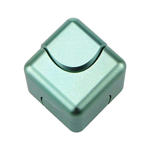 Fingertips Gyro Toys Tri Fidget Cube Hand Spinner Triangle Metal Finger Focus Toy ADHD Autism Spinning Toys Lanspo (Green)