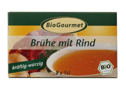 Preisvergleich Produktbild BioGourmet Brühe mit Rind, Würfel, 6er Pack (6 x 96 g Karton) - Bio