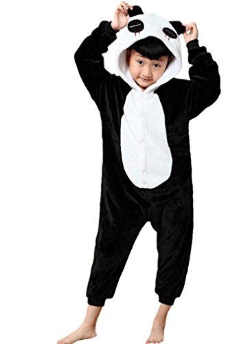 Magicmode Unisex Kinder Cartoon Panda Einteiler Strampelanzug Schlafanzug Cosplay Kostüm (Strampelanzug Kostüm Panda)