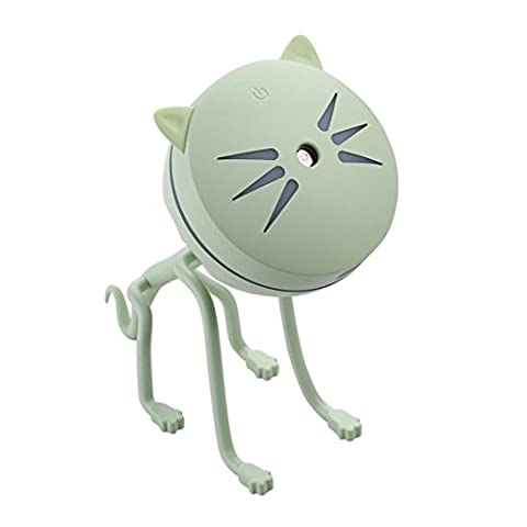 erthome A set Lamp Humidifier Cute Cat LED Humidifier Air Diffuser Purifier Atomizer (Multicolor)