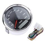 D DOLITY Auto Motorrad Tachometer Geschwindigkeit Elektronischer Tachometer 85mm 200km / h Geschwindigkeitsmesser