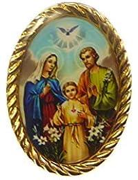 434fb630498 R Heaven - metálico sagrada sagrada familia insignia 2.5cm católica