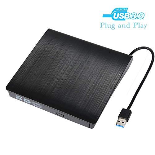 Acer-dvd (PowerLead Externes DVD Laufwerk, CD Laufwerk, Laufwerk extern, USB 3.0 (tragbar), Superdrive für alle Laptops/Desktop z.B Lenovo,Acer,Asus; PC unter Windows und Mac OS für Apple MacBook- Schwarz)