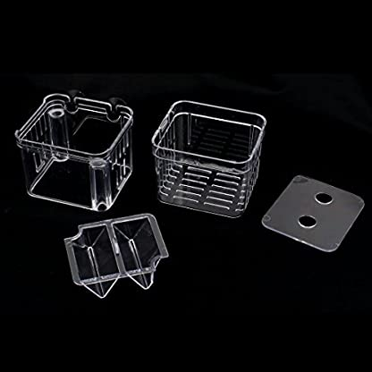 DealMux Plastic Retangle Shape Floating Double-deck Aquarium Divider Hatchery 3