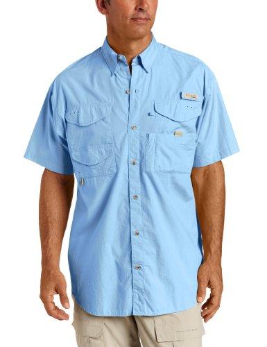 Columbia-angeln-shirt (Columbia Herren Bonehead Kurzarm Shirt, Blau, XX-Large)