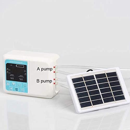 caracteristicas:CARGA SOLAR: batería de litio incorporada; No es necesario recargar y reemplazar la batería, también puede usarse durante 1 a 3 meses sin cargar.NUEVO SISTEMA DE TIEMPO: El tiempo programado de riego y de riego se puede controlar f...
