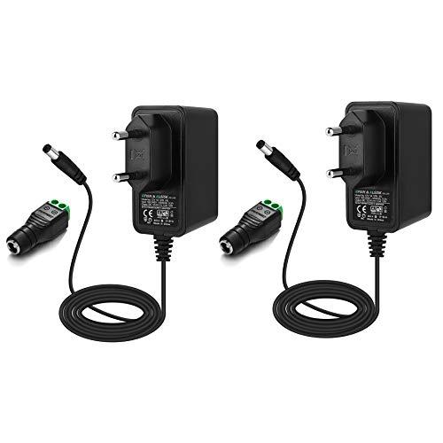 EFISH 12V Trafo liefern Netzteil,Netzstecker für Hausgeräte,CCTV Kamera,Yamaha Keyboard,Router,Hubs,LED-Streifen,Telekom,T-Com,Speedport,Radiowecker,Scanner,Schalter,CE/GS Genehmigt (2 X 12V1A)