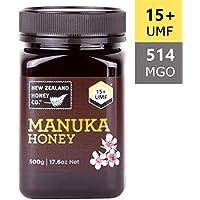UMF 15+ Miel de manuka cruda 100% más fina de New Zealand Honey Co. | 500g | La miel de manuka salvaje más rara de la remota isla del sur | Sin OGM, sin antibióticos, sin aditivos, calidad garantizada