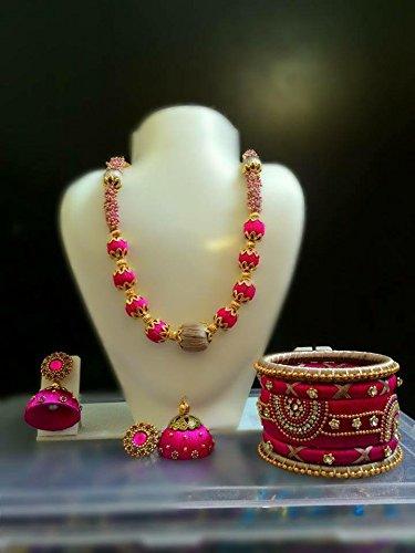 pink-silk-thread-jewellery