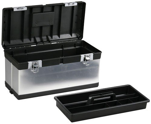 Preisvergleich Produktbild Allit Profi-Werkzeugkoffer, 1 Stück, silber / schwarz, 476420