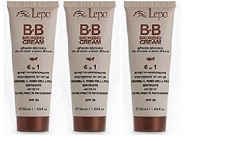 lepo-bb-bronzing-cream-spf-30-3-packs-of-50-ml-hydrating-protects-from-uv-smoothens-the-colorito