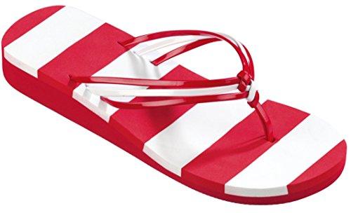 Beco V De Strap Slipper Rouge / Blanc