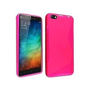 Coque Xiaomi Mi Note, Ordica France®, Housse Xiaomi Mi Note TPU Silicone Souple Pochette Accessoires Protection Anti Choc Etui Motif S à l'Arrière - Coloris Rose