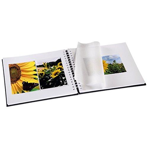 """Album à spirales """"Fine Art"""", 28 x 24 cm, 50 pages blanches, gris"""