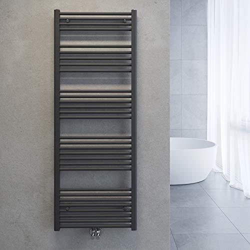 SONNI Handtuchtrockner Heizkörper Bad Mittelanschluss Handtuchwärmer Badheizkörper Anthrazit Gerade 60 x 160cm