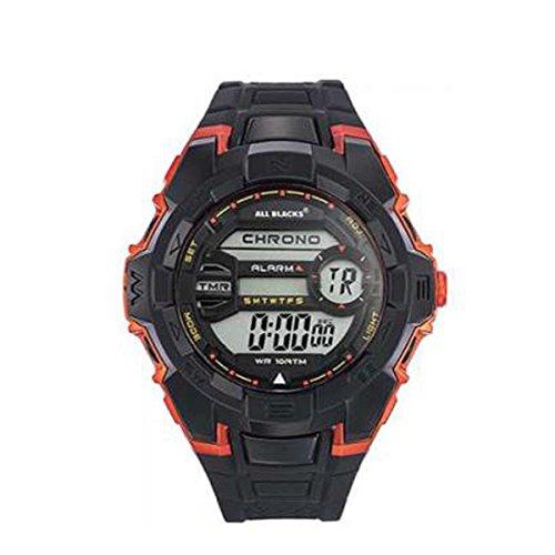 Preisvergleich Produktbild Wunderschöne zeigt All Blacks, LCD-Display, Multifunktions, aus Silikon schwarz/orange