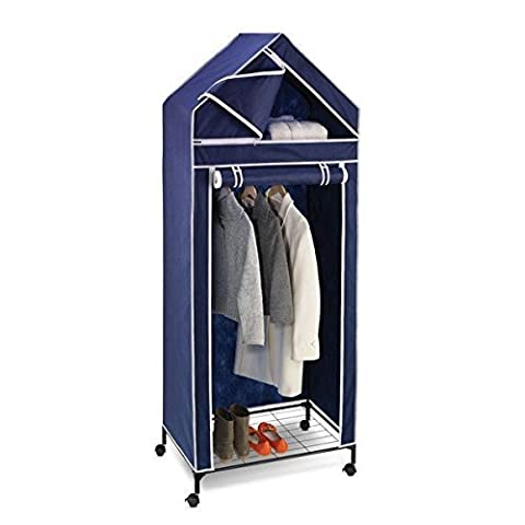 30w top shelf storage closet, Navy/White Trim by Product Honey-Can-Do