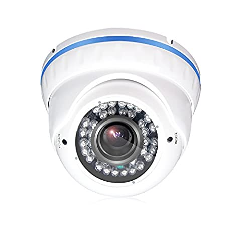 TMEZON 2.0MP HD-AHD Outdoor Dome Day Night Camera 2.8-12mm Varifocal