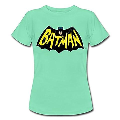 DC Comics Batman Symbol Und Schrift Vintage Frauen T-Shirt von
