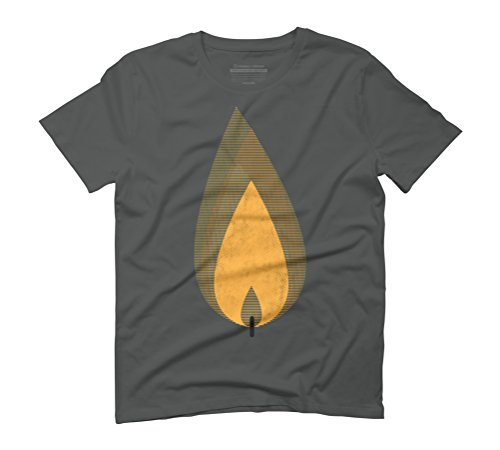 candle light Men's Graphic T-Shirt - Design By Humans Anthracite
