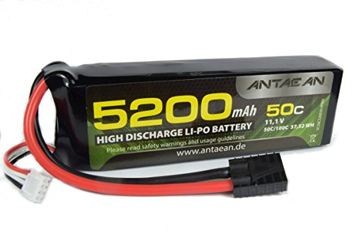 Antaean 3s 11,1V 5200mAh 50-100C Lipo Akku mit Traxxas Stecker