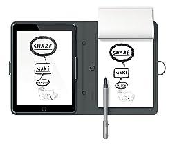 Wacom CDS600C Bamboo Spark Smart Folio (Snap-fit, für iPad Air 2) mit DIN A5-Block, schwarz