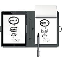 Wacom Bamboo Spark - Cuaderno digital inteligente con funda Snap-Fit para Apple iPad Air 2, color gris