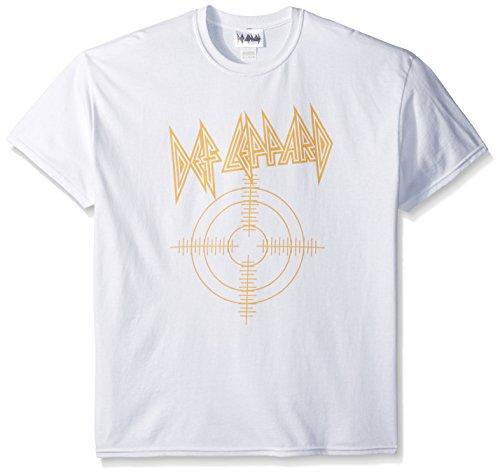 Def Leppard Target Herren T-Shirt - Weiß - Groß