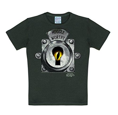 uggle Worthy T-Shirt Kinder - grau - Lizenziertes Originaldesign - LOGOSHIRT, Größe 104/116, 4-6 Jahre (Fantastic 4 Kostüm)