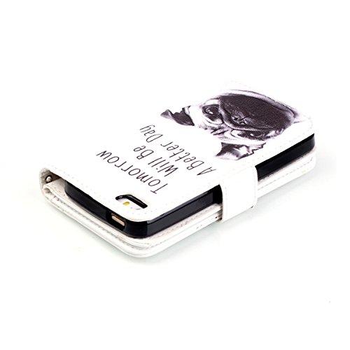 iPhone 5C Coque, Apple iPhone 5C Coque, Lifeturt [ Pivoine ] Leather Case Wallet Flip Protective Cover Protector, Etui de Protection PU Cuir Portefeuille Coque Housse Case Cover Coquille Couverture av E02-Un jour meilleur