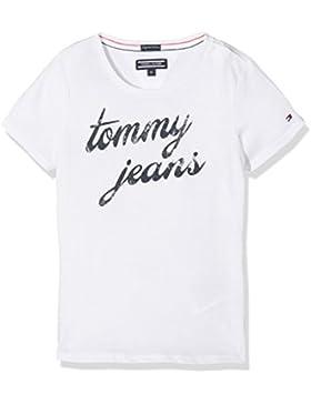 Tommy Hilfiger AME Logo CN Knit S/S, Camiseta Para Niñas