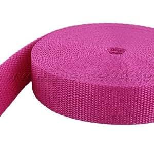 10m PP Gurtband - 15mm breit - 1,2mm stark - pink (UV)