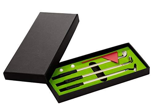 Juvale Golf Pen Set - 7-teiliges Schreibtisch-Golf-Set mit 3 Kugelschreibern, Mini-Golfspielzeug, Neuheit für Herren, Golfer, Coworker, Bürotisch, Sport, Spiel, 24,6 x 10,1 x 3,8 cm gefaltet -