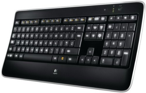 Logitech Illuminated Keyboard (Logitech K800 Wireless Illuminated Keyboard (deutsches Tastaturlayout, QWERTZ))