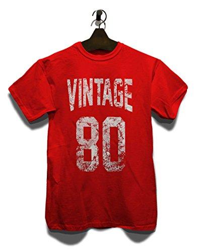 Vintage 1980 T-Shirt Rot