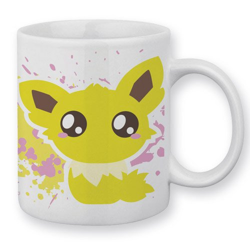 Mug Voltali / Jolteon (Pokemon) Chibi et Kawaii by Fluffy Chamalow - Fabriqué en France - Chamalow Shop