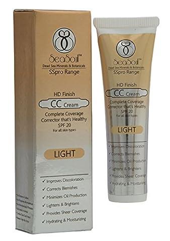 Seasoul Minerals & Botanicals HD Finish CC Cream With SPF 20 - Light - 1.0 Oz